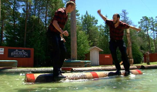 Jack Pine Lumberjack Show Events Log Roll