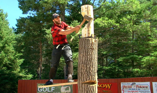 Jack Pine Lumberjack Show Events Spring Board Chop