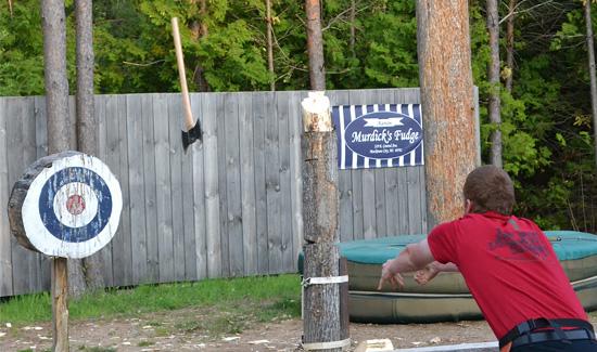 Lumberjack Axe Throw Mackinaw City