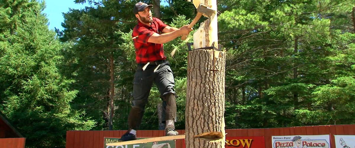 jack pine lumberjack shows mackinaw city michigan